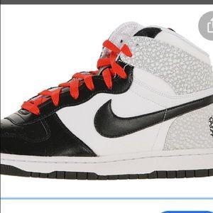 Big Nike High leather basketball shoes